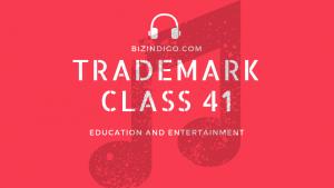 trademark class 41