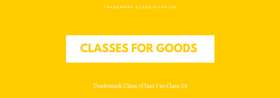trademark classes for goods