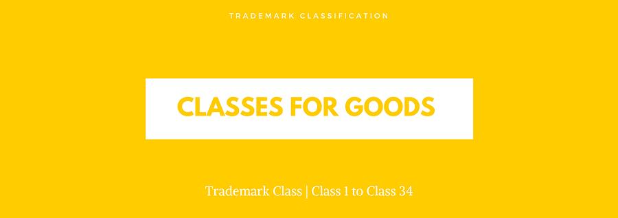trademark classes for goods