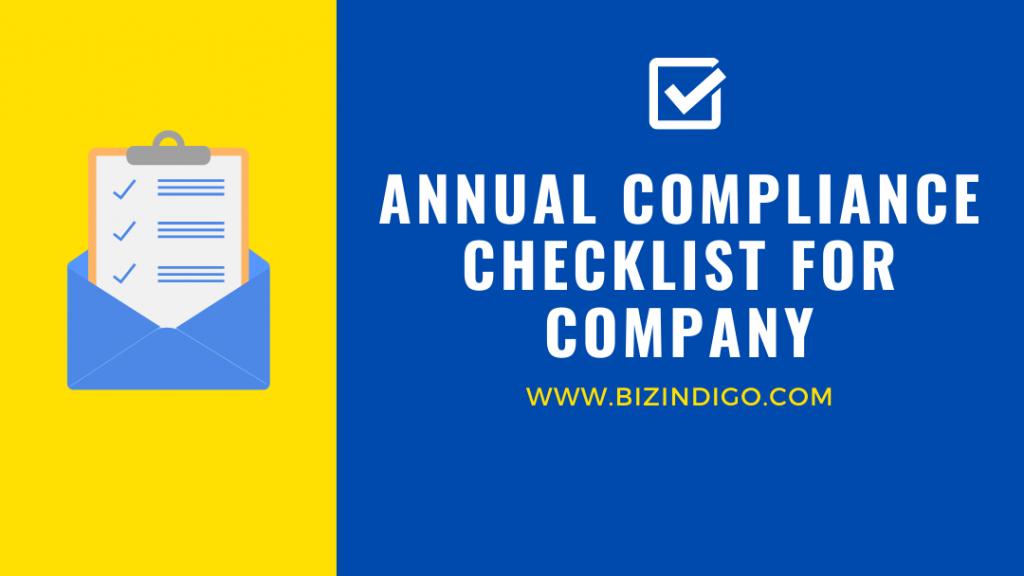 Annual Compliance Checklist for Company