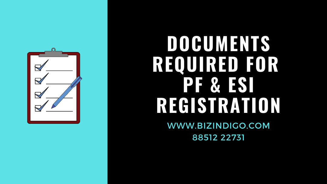 documents required for pf esi registration